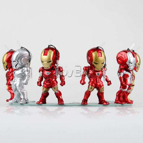 Фигурка героя мультфильма Iron Man Q 3 one box stylish various infauna and anchor shape diy nail art decoration