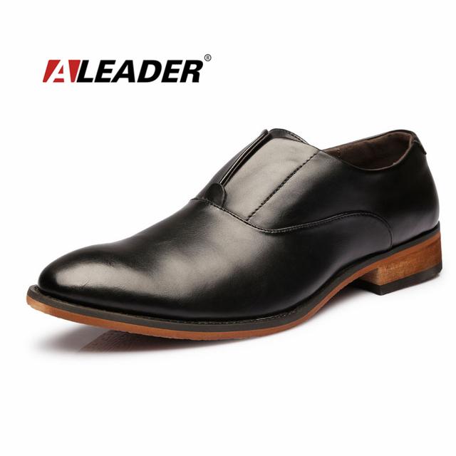 Мужские туфли 2016 весной мода кожи Oxfords для человека свободного покроя туфли-деловых ...