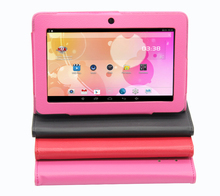 Android 7 inch Tablet PC Google A33 Quad-Core 1G-16GB Bluetooth WiFi FlashTablet PC Have leather case 1GB 16GB pink tablets