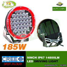 185w 9inch Red round cree led driving light
