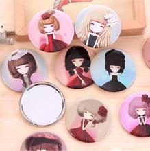 RANDOM COLOR flower girl mini pocket makeup mirror cosmetic compact mirrors espelho de maquiagem espejos de bolsillo
