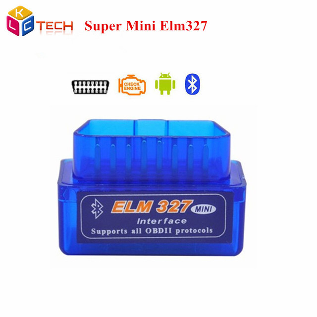 2016 Super Mini ELM 327 Bluetooth V2.1 Auto OBD2 Diagnostic Scanner Tool ELM327 Mini Works On Android Tourque Without Track
