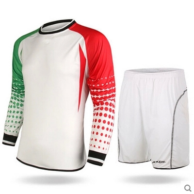 2015 High quality soccer jersey men football goalkeeper soccer uniforms sets training suits doorkeepers clothes long sleeve(China (Mainland))