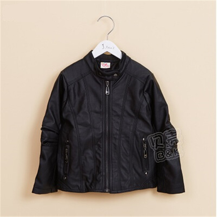 2015 spring and autumn new style baby boys leather jackets little boys fashion coats boys leather outerwear A2179(China (Mainland))