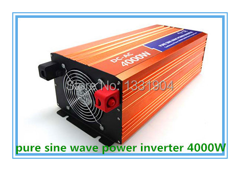 Free shipping DC24V to AC220V CE RoHs power inverter 4000W pure sine wave power inverters, solar power inverter, car inverter(China (Mainland))