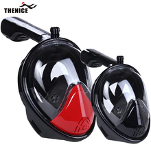 Thenice New Pro Scuba Diving Mask Full Face Easy Breath Dry Snorkeling Swimming Dive Snorkel Equipment Underwater Sport Anti Fog(China (Mainland))