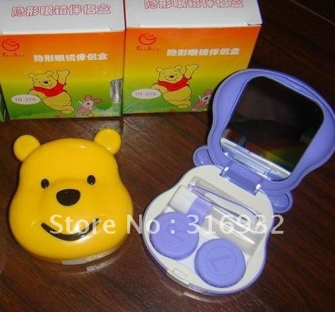 Winnie Shaped Contact Lens Case /lens box, good quality