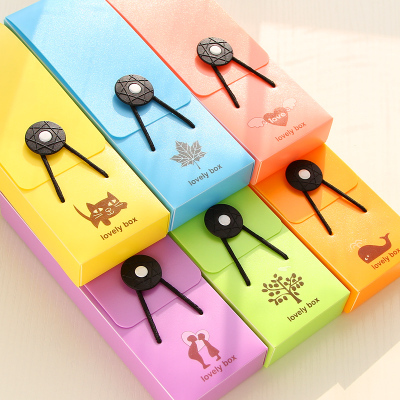 Global Free Shipping Smile Fashion Candy Color Elastic Band Buckle Pen Box Pencil Case Korea School Supplies Stationery Cute<br><br>Aliexpress