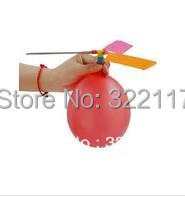 Early education toy infant experimental equipment balloon helicopter,20sets/lot(China (Mainland))