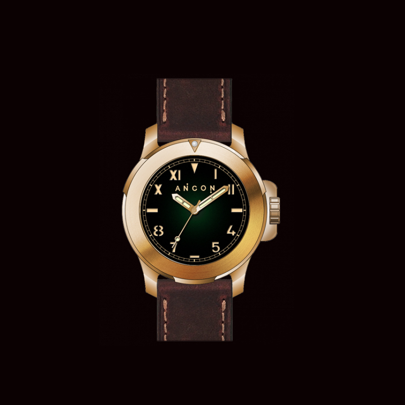 Free shipping new arrival ancon challenger 47mm ch006 - Bronze dive watch ...