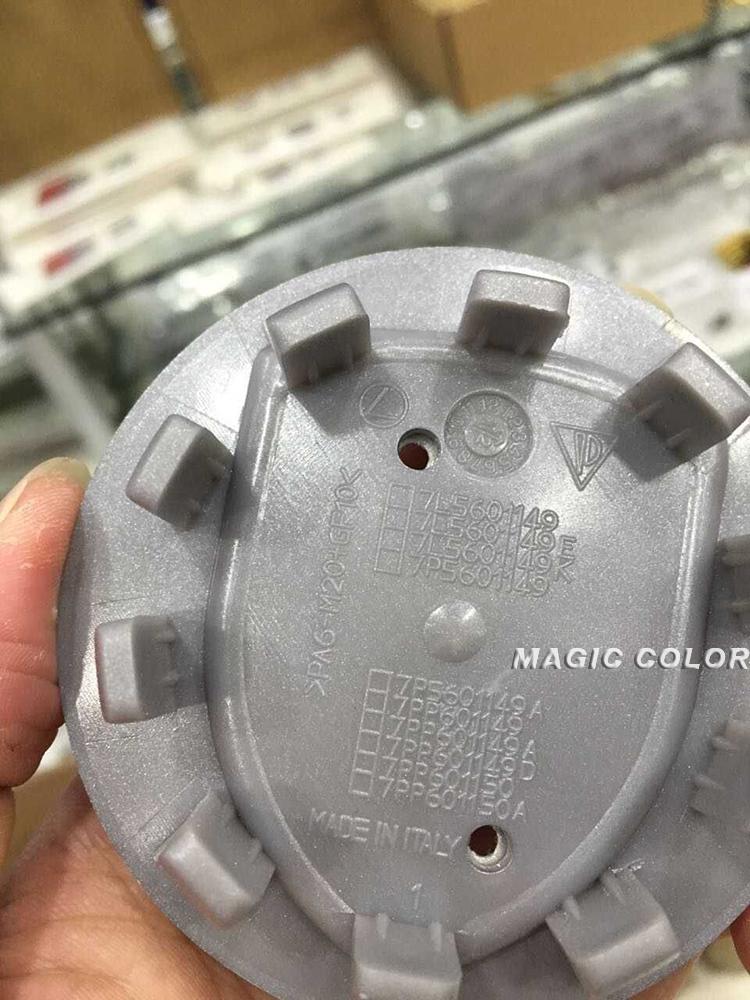 "4 pcs Genuine Concave Brilliant Silver Gold Crest 3"" 75mm Wheel Center Caps for Porsche(China (Mainland))"