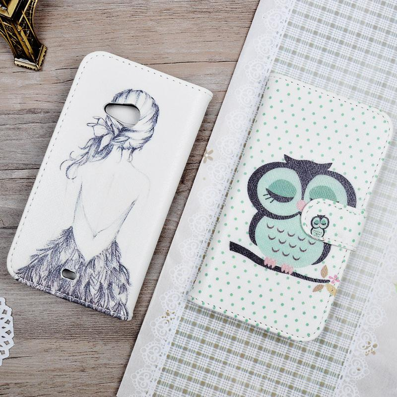 535 cover Printing Cartoon Case For Microsoft Nokia Lumia 535 cover Stand Wallet Holder Card Mobile Phone Bag&Protective(China (Mainland))