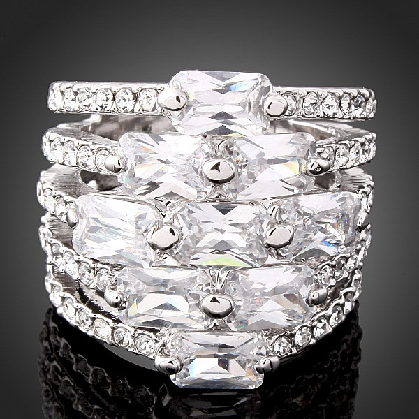 2016 New Imitation Diamond Austrian Crystal Fashion Wedding Rings Women Men Jewelry Accessories (Dragon DFDR0011) - Dragon Decoration Co.,Ltd. store