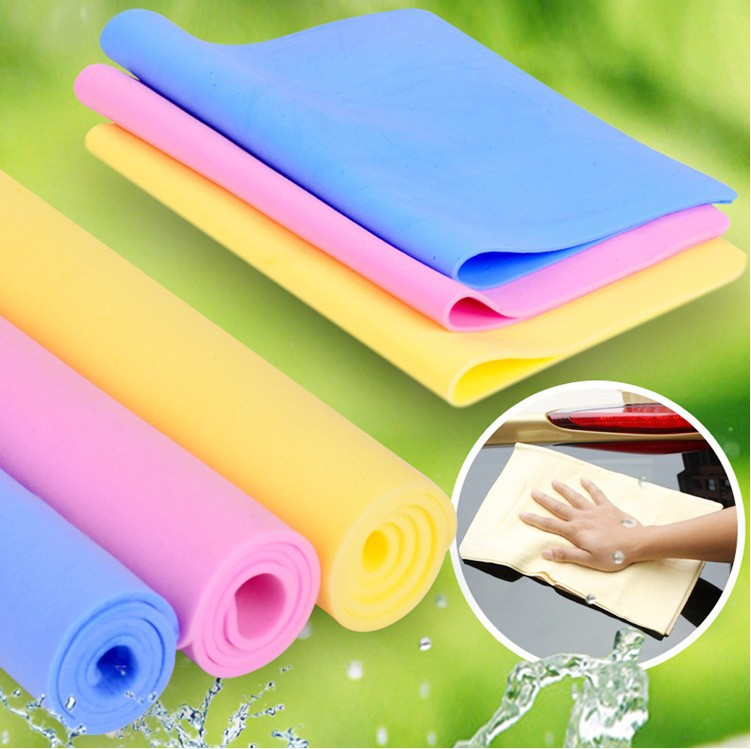 Cheap 43cm * 32cm Chamois Leather Towel Cleaning Towel Car Wash Towel Dry Hair Towel Cleaning Cloth Wholesale free shipping(China (Mainland))