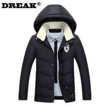 2016 new winter men's solid color big yards thick down jacket mens winter parka jacket coat russia winter coats park men(China (Mainland))