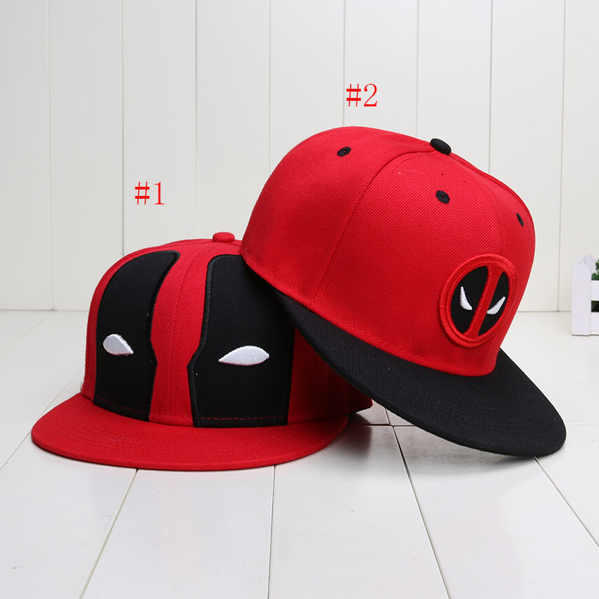 2Styles Red Deadpool Snapback Cool Hat Adult Hip Hop Cotton Toy Figure Toy For Men Women(China (Mainland))