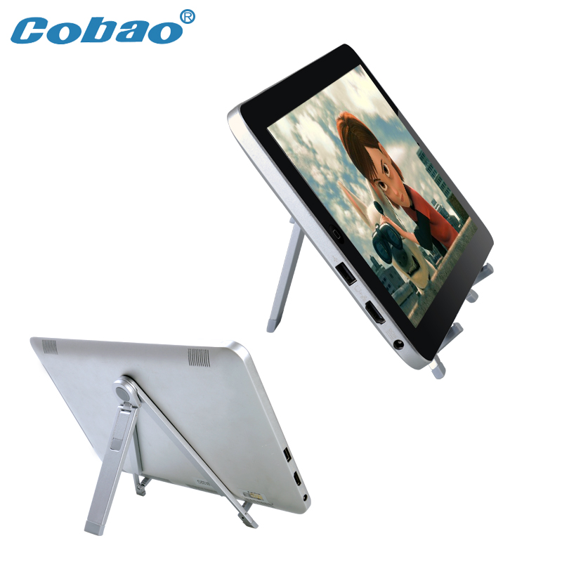 Luxury Aluminum Foldable Tablet PC and Mobile Cell Phone Bracket Holder Stand With Retail Package(China (Mainland))