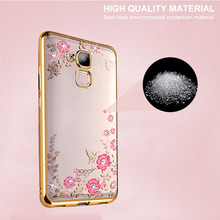 Buy Huawei Honor 5C Case Rhinestone Soft TPU Phone Back Cover Bling Secret Garden Gold Plating Transparent Honor 7 Lite for $2.45 in AliExpress store
