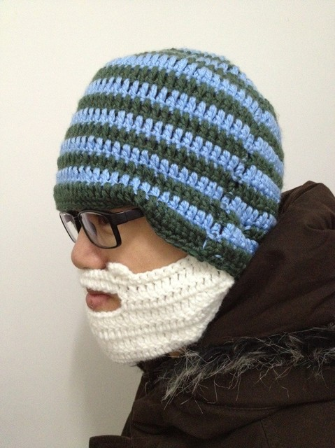 Free Shipping 1Piece New Arrival Beard Hat Knit Beard Hat Gray/Yellow/Blue/Orange-U Choose