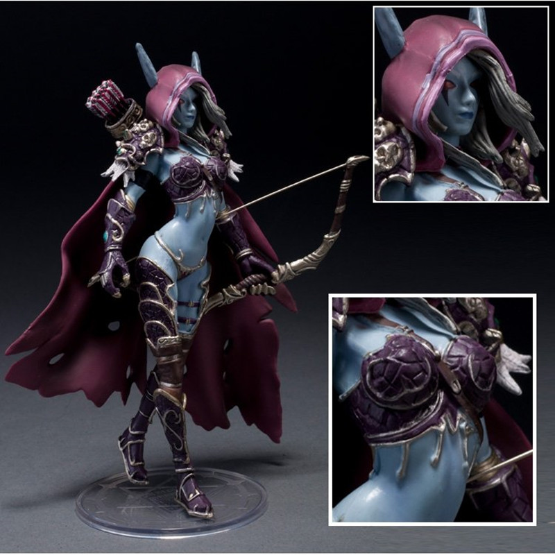 14cm WOW Action Figure Toys Sylvanas Windrunner Darkness Ranger Lady PVC WOW Figure For Collection Annie Brinquedos Model<br><br>Aliexpress