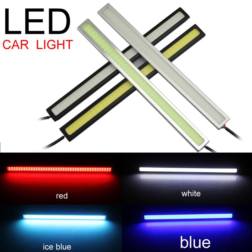 2pcs/set 17cm Car Auto DRL Daytime Driving Running COB Chip LED Fog Light Lamp(China (Mainland))