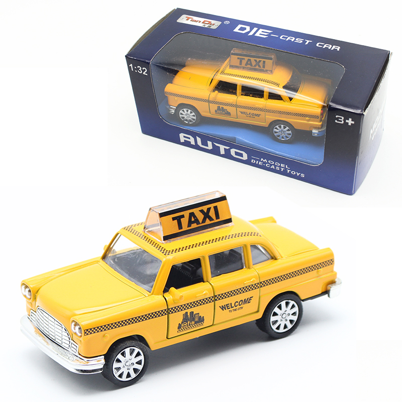1:32 Diecast Mini Yellow Flashing Musical Pull Back Taxi Alloy Car Model with Sound Light Toys For Children Kids(China (Mainland))