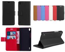 huawei P7 case,Lychee PU Leather Stand wallet case For Huawei Ascend P7 with card holder FreeShip