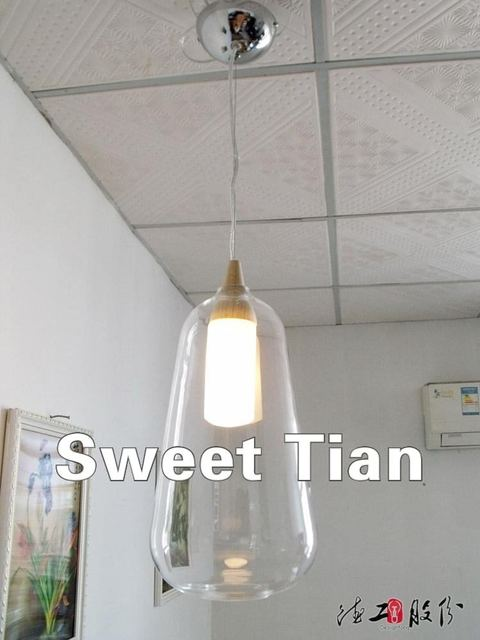 1 Mediterranean paragraph C of the living room lamp Restaurant lights staircase lights project lights glass chandelier amber