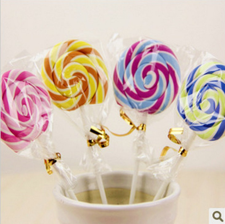 10 pcs/lot Cute Kawaii Cartoon Lollipop Rubber Erasers for Kids Lovely Creative Stationery Gift Wholesale Free shipping 654(China (Mainland))