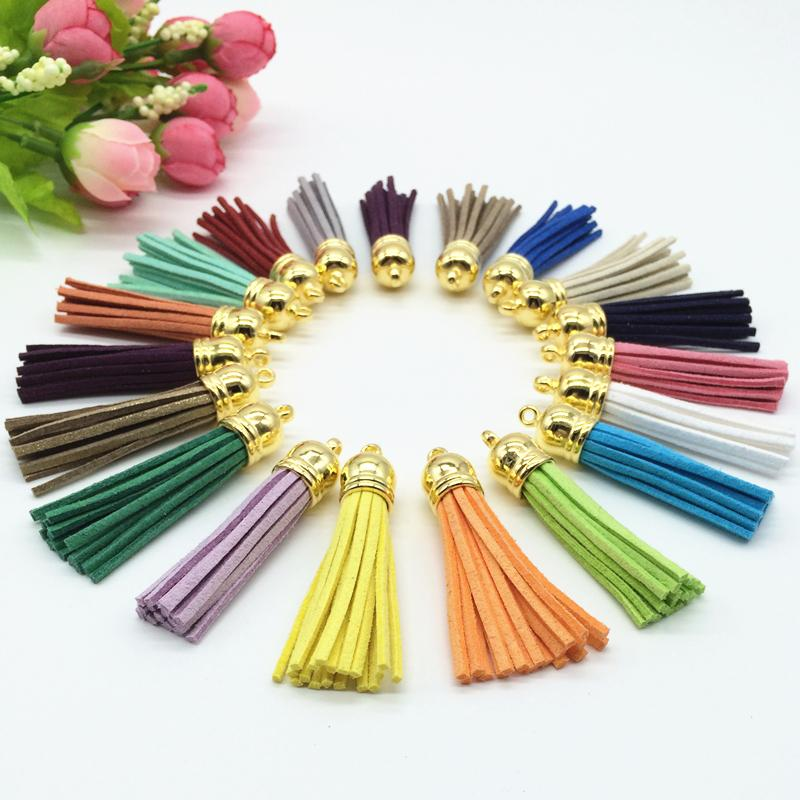 58mm Mix Color Suede Tassel For Keychain Cellphone Straps Jewelry Charms,50pcs Leather Tassels Diy Accessories(China (Mainland))