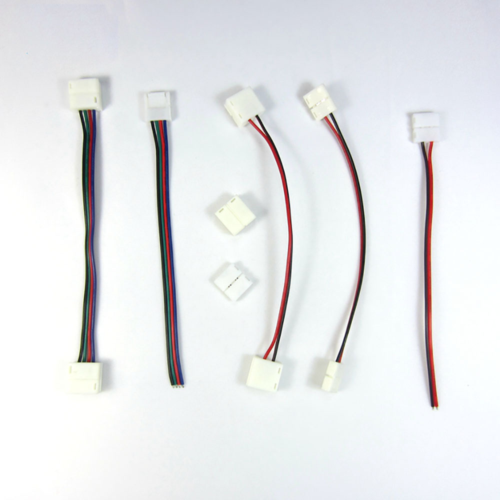 10pcs lot 10x 10mm 2pin LED strip connector wire for 5050 5630 5730 single RGB color