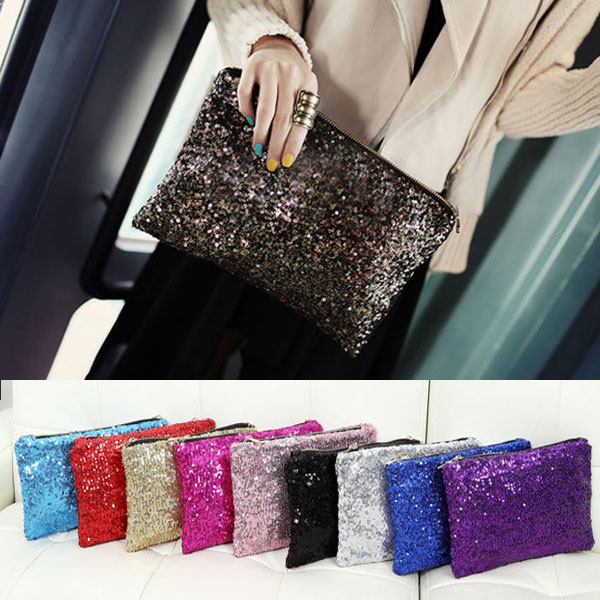 Retro Luxury Sequins Hand Bag Taking Late Package Clutch Bag Sparkling Dazzling Sequins Clutch Bags Purse Handbag Evenin(China (Mainland))