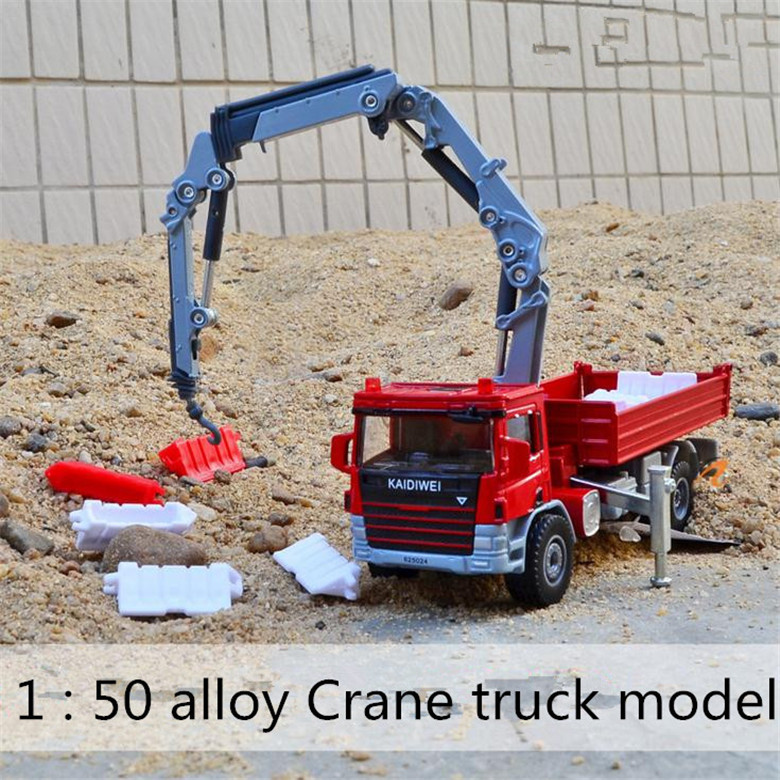 2015 NEW Cool 1/50 Scale Diecast Car Model Toys Crane Truck Hauler Metal Model Toy Construction vehicles -Free Shipping(China (Mainland))