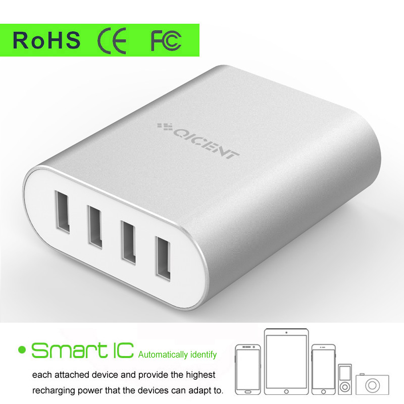 mini 4port cargador usb charger portable mobile battery universal phone charger 5V 35W 7A Intelligent quick charge dock station(China (Mainland))