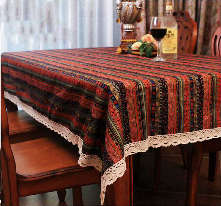 Bohemian Vintage Table Cloth Dining Table Mat Coffee Tea