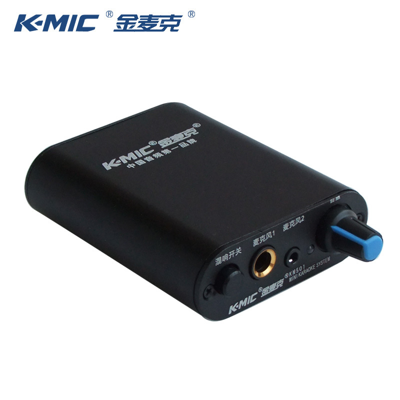K-Mic KM501 Two Road Microphone Preamp Reverb Amplifier For Dynamic Microphone Can connect computer speakers Double Choir<br><br>Aliexpress