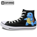 Girls Boys Sneakers Men Women Original Converse All Star Pokemon Squirtle Design Custom Hand Painted Shoes