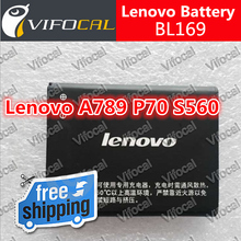 BL169 lenovo battery 2000mAh 100% New replacement accessory for Lenovo A789 P70 S560 Cell Phone + Free Shipping + In Stock(China (Mainland))