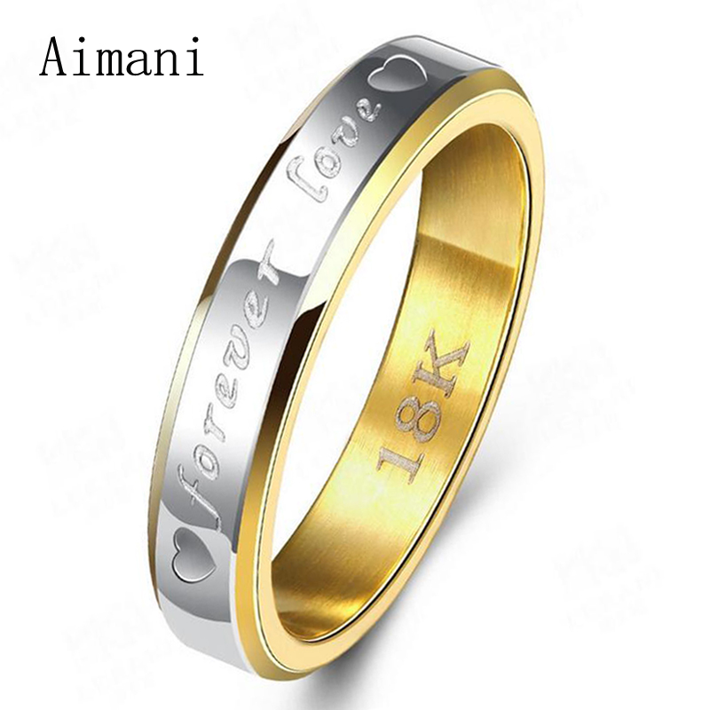 Classic Forever Love 18K Stamp Gold Ring 925 Sterling Silver Wedding Rings For Women Couples Stainless Steel Lovers Rings JZR096(China (Mainland))