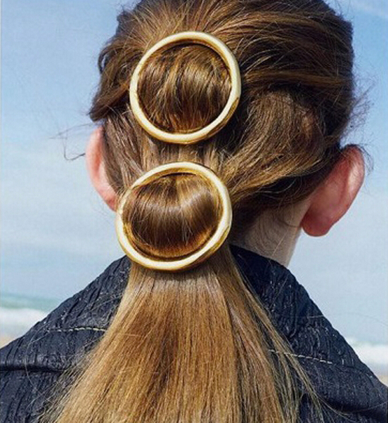 Wholesale Hair Artique Metal Round Hairclips Hair Pins Barrettes Haarspange For Women Casual Party BD089 6CM(China (Mainland))