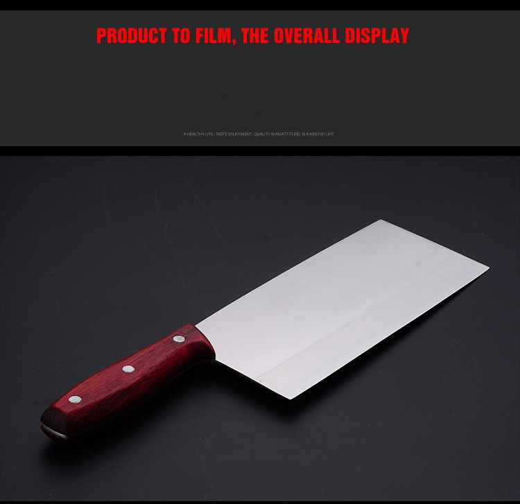 Buy Free Shipping Forged Stainless Steel Slicing Knives Kitchen Cutting Tool Manual High Density Meat Vegetable Knives For Cooking cheap