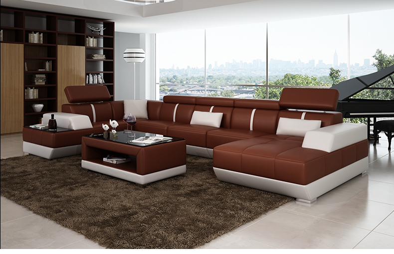 Modern Sofa Set Living Room Furniture Black Leather Chesterfield Loveseat Furniture For Sale