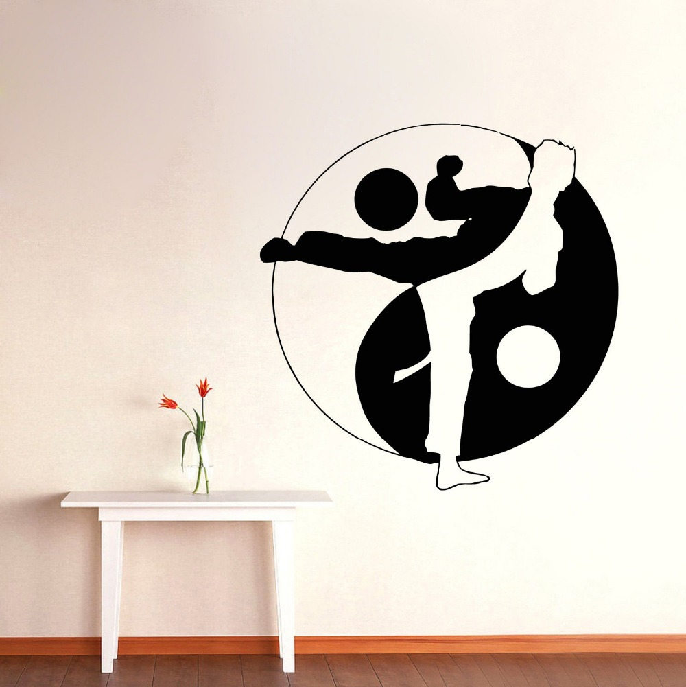 Arts martiaux stickers promotion achetez des arts martiaux for Decoration chambre karate