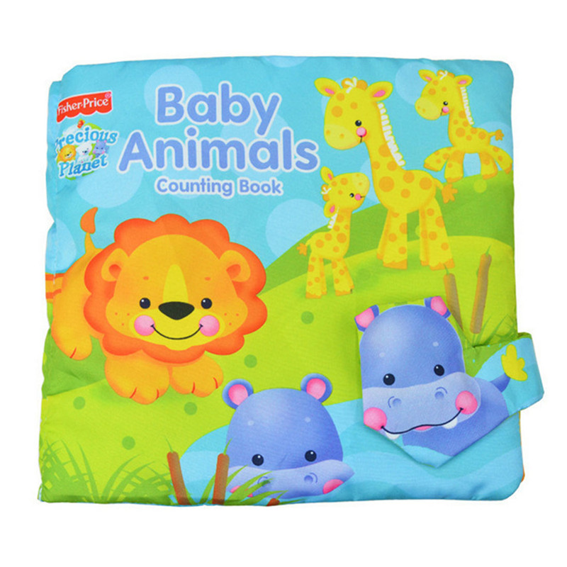 Baby Animals Counting Cloth Book Baby Book Children Education Toys Early Development Education kids Toy(China (Mainland))
