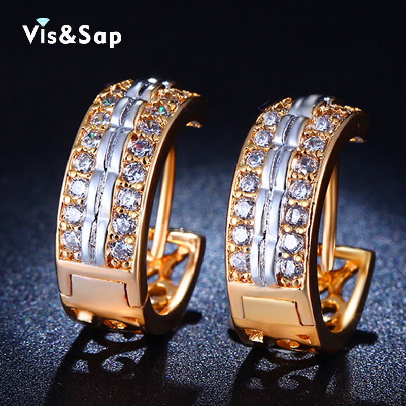 18k Gold Plated hoop earrings vintage jewelry Sail shape Wedding CZ diamond earrings for women fashion jewelry bijoux VSE026(China (Mainland))