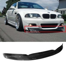 FOR 01-06 BMW E46 3-Series M3 Only 2Dr CSL Style Front Bumper Lip - Carbon Fiber CF(China (Mainland))