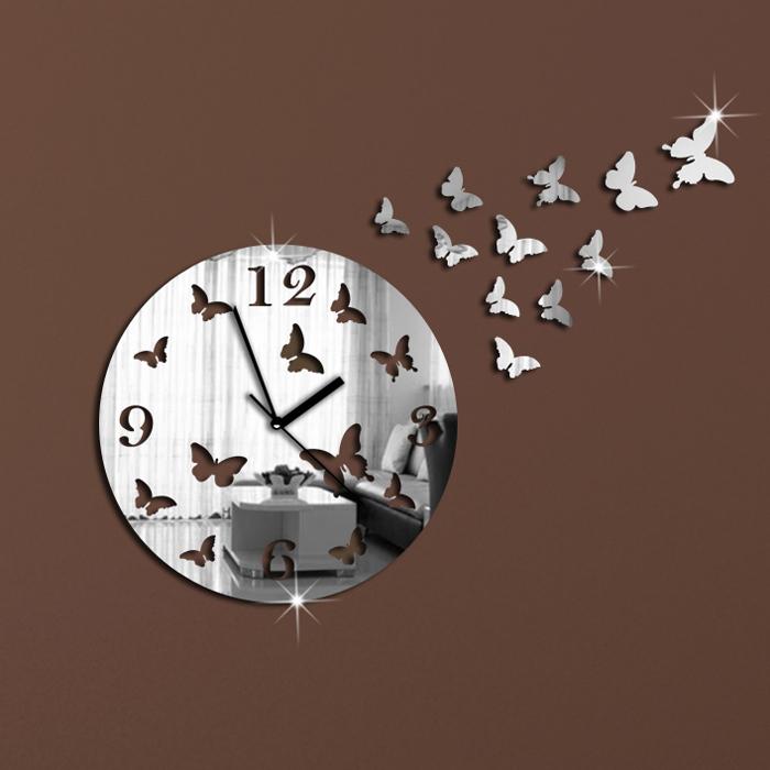 Horloge murale design moderne miroir de luxe horloge for Horloge murale moderne design