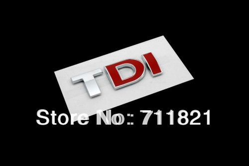 TDI Rear Emblem Badge Logo Red DI For Volkswagen For VW(China (Mainland))