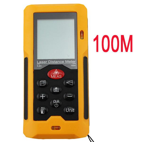 Laser Rangefinder 100m 328ft Laser Distance Meter Measurer HT-100 Laser Range Finder Medidor Laser Measure Area/Volume Tool(China (Mainland))