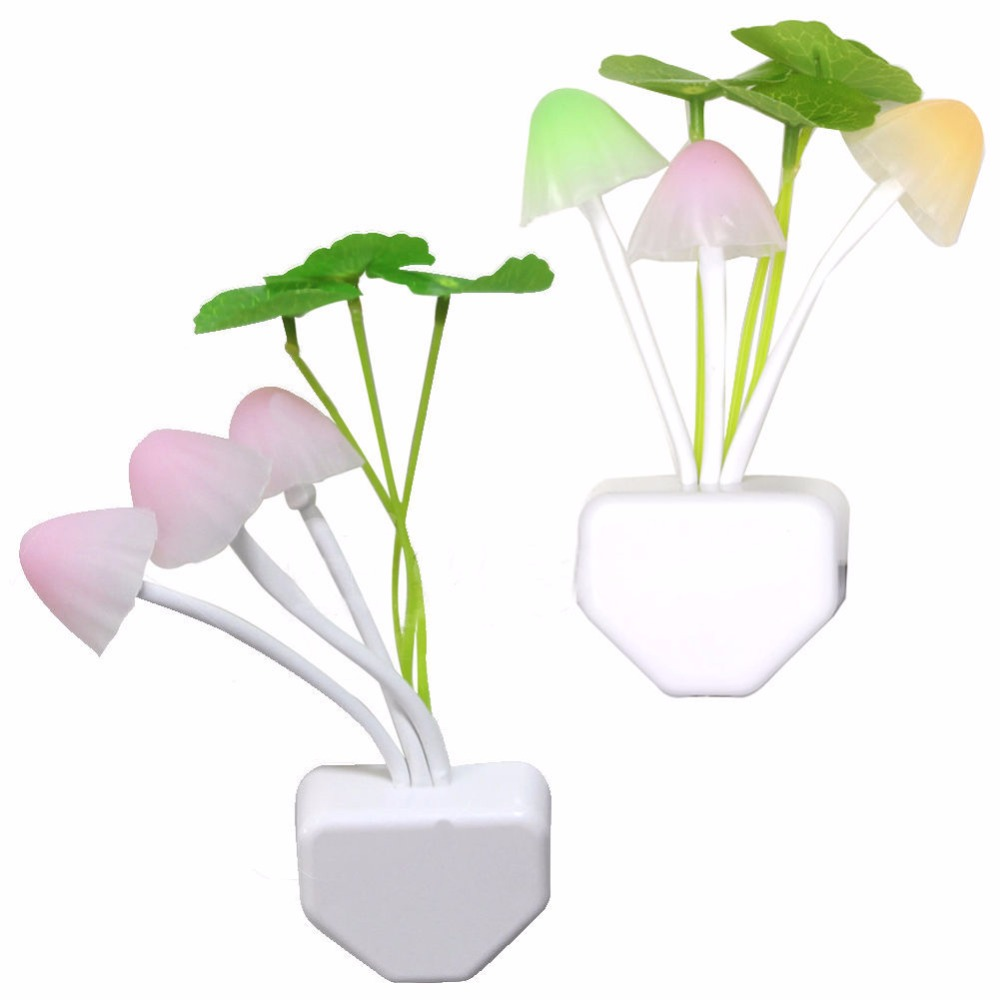 Square/Vase Head Plug Electric Light Sensor Dream Mushroom Fungus Lamp LED Lamp Mushroom Lamp Led Night Lights(China (Mainland))